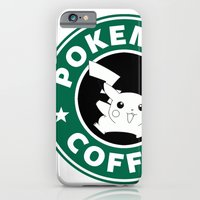 iPhone Cases featuring Pokemon Coffee by Royal Bros Art