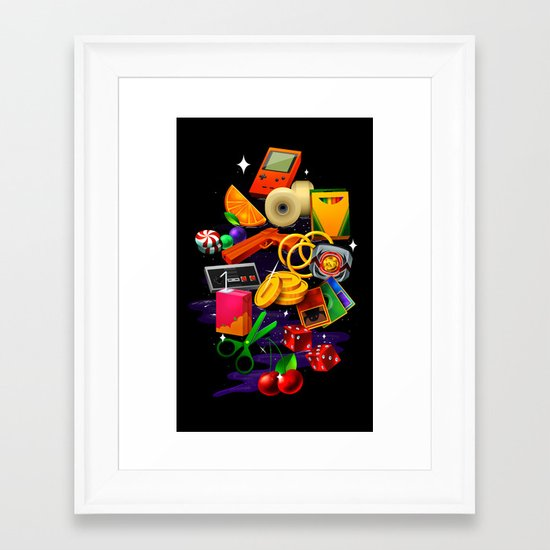 BORN 88 Framed Art Print