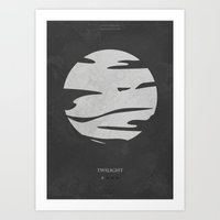Twilight - minimal poster Art Print