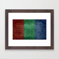 The flag of the planet Mars Framed Art Print