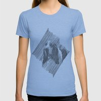hush puppies Womens Fitted Tee Athletic Blue SMALL