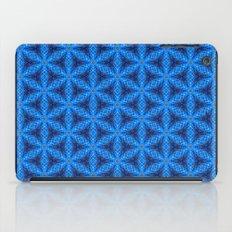 Blue Snake Scales Pattern iPad Case