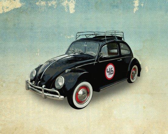 Number 46 -VW Beetle Art Print