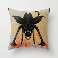 Throw Pillow featuring Mon.day  by David Nuh Omar