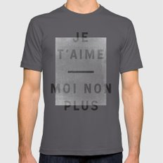 Je T'aime...moi Non Plus Mens Fitted Tee Asphalt SMALL