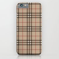 iPhone & iPod Case featuring Burberry plaid Designer pattern by All Is One