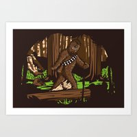 The Bigfoot Of Endor Art Print