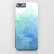 Abstract Watercolor Texture Blue Green iPhone 6 Slim Case