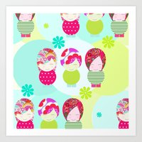 Dolls Pattern Art Print