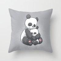 Panda Hug Throw Pillow