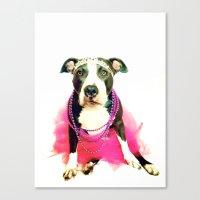 Pittie Princess Canvas Print