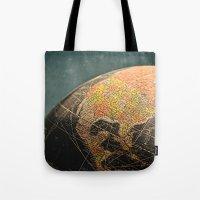 Where I Am (Vintage Glob… Tote Bag