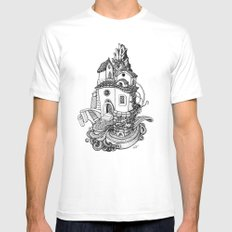 Crystal Mountain SMALL White Mens Fitted Tee