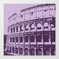 Purpura Coliseum Canvas Print