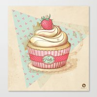 my Vintage Cupcake Canvas Print