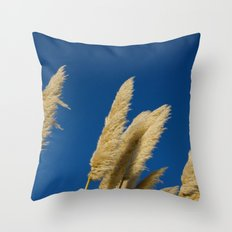 A soft breeze, against a cobalt sky. Throw Pillow