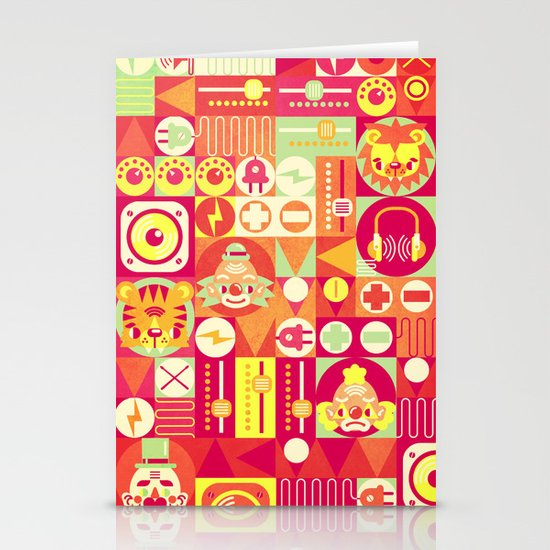 Electro Circus Stationery Card