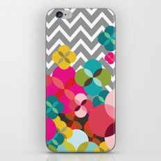 Chevron Blooms iPhone & iPod Skin