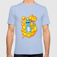 Evil Little Bunny Mens Fitted Tee Tri-Blue SMALL