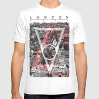 London City. Mens Fitted Tee White SMALL