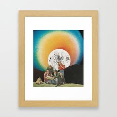False Color Framed Art Print