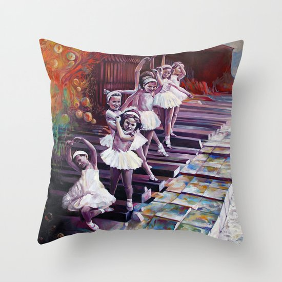 Satie Throw Pillow