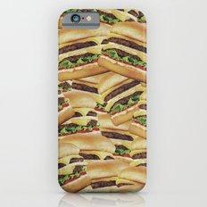Vintage Cheeseburger Pile Print Slim Case iPhone 6s