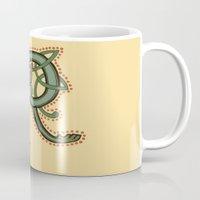 Celtic Dragon Letter R Mug