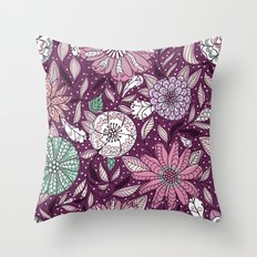 Floral Pattern #48 Throw Pillow