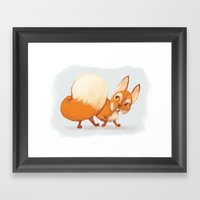 Litte Fox Framed Art Print
