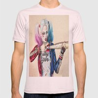 Harley Quinn Mens Fitted Tee Light Pink SMALL