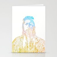 motif of a portrait II Stationery Cards