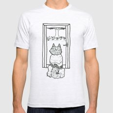 Paul at the Window Mens Fitted Tee Ash Grey SMALL