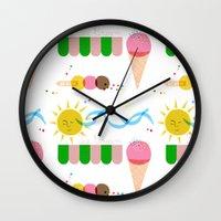 Ice Cream Summer Wall Clock