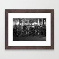 Bike's on the bridge Framed Art Print