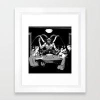 Happy Birthday Baphomet Framed Art Print