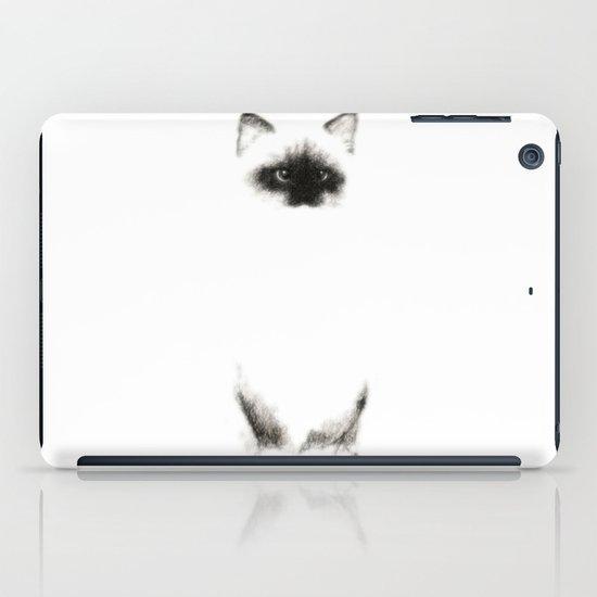 Angora Siamese Cat - Chat Siamois Angora iPad Case