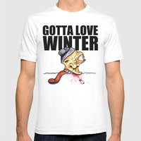 Gotta Love Winter Mens Fitted Tee White SMALL