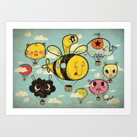 飞行者 HapPig Flight/… Art Print