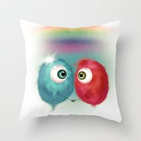 Hello Earthling - love Throw Pillow