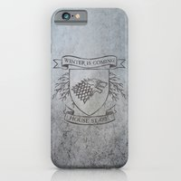 iPhone Cases featuring House Stark by Isabel