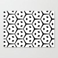 Van Trijp Black & White Pattern Canvas Print