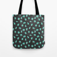 Indian Baby Elephants Bl… Tote Bag