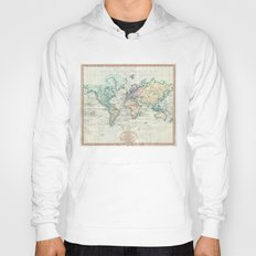 Vintage Map of The World (1801) Hoody