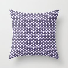 Dragon Scales Deep purple Throw Pillow