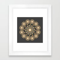 Atom B4 - Grey Framed Art Print
