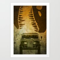 Jurassic Minimalist Art Print