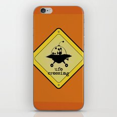 UFO crossing sign iPhone & iPod Skin