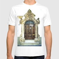Italian Door Mens Fitted Tee White SMALL
