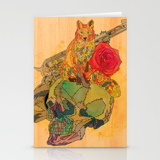 Fox & Rose Stationery Card